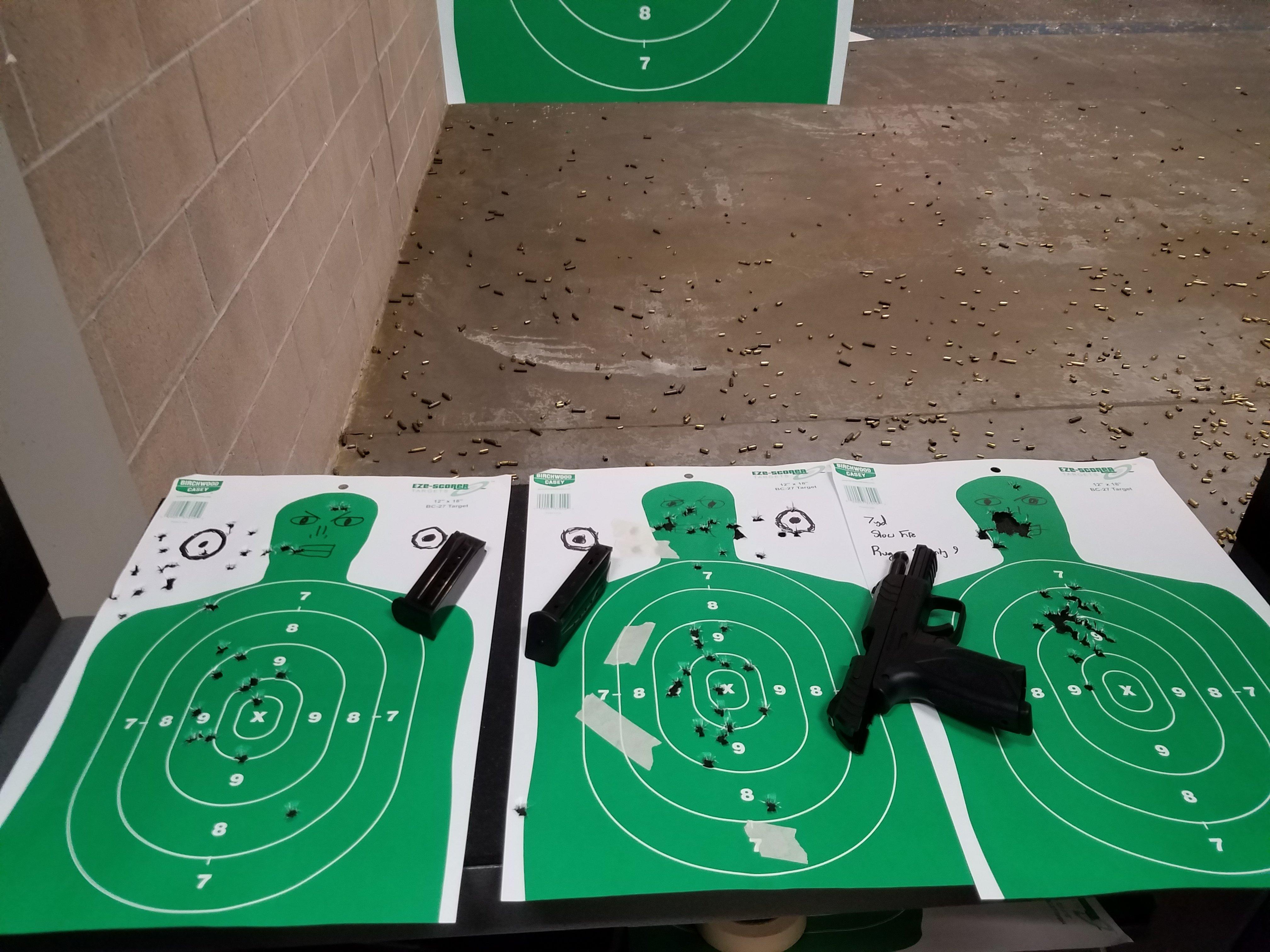 Ruger Security 9 targets