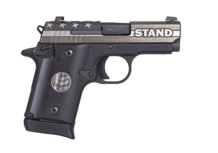SIG SAUER P938 STAND 9mm pistol special edition