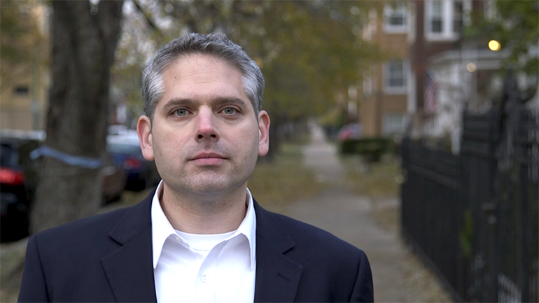 A candidate running for Illinois attorney general was robbed at gunpoint while he was taking promotional photos for his campaign Thursday afternoon in the Northwest Side ward where he's also the Democratic committeeman, according to his campaign manager and authorities.  Aaron Goldstein, 42, and several members of his campaign team were in the middle of taking publicity shots when the robbery happened, according to Goldstein's campaign manager.  The robbery took place about 3:25 p.m. in the 4600 block of North Albany Avenue in Albany Park, when three men in their early 20s approached them, according to a law-enforcement source.  One of the men flashed a handgun and demanded the camera equipment and other personal belongings from the team, according to police.