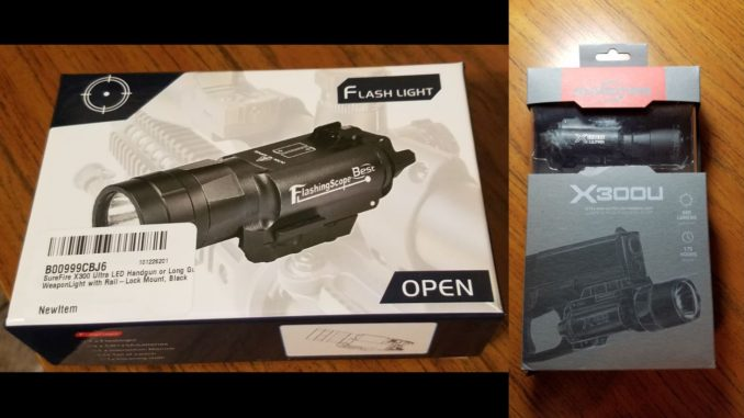Fake Surefire X300u Package