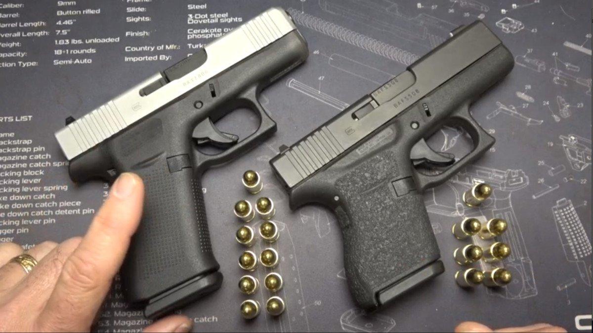 Glock 43 vs Glock 43X