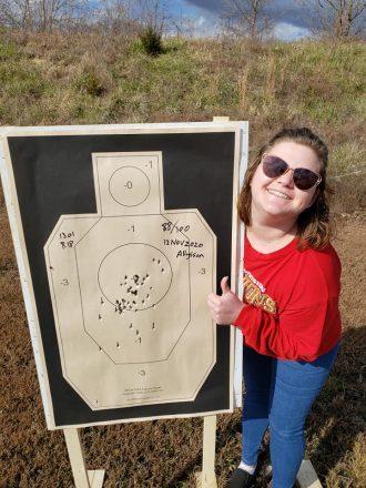 First time handgun shooter.