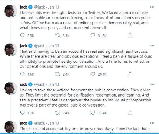 jack dorsey trump tweet censorship
