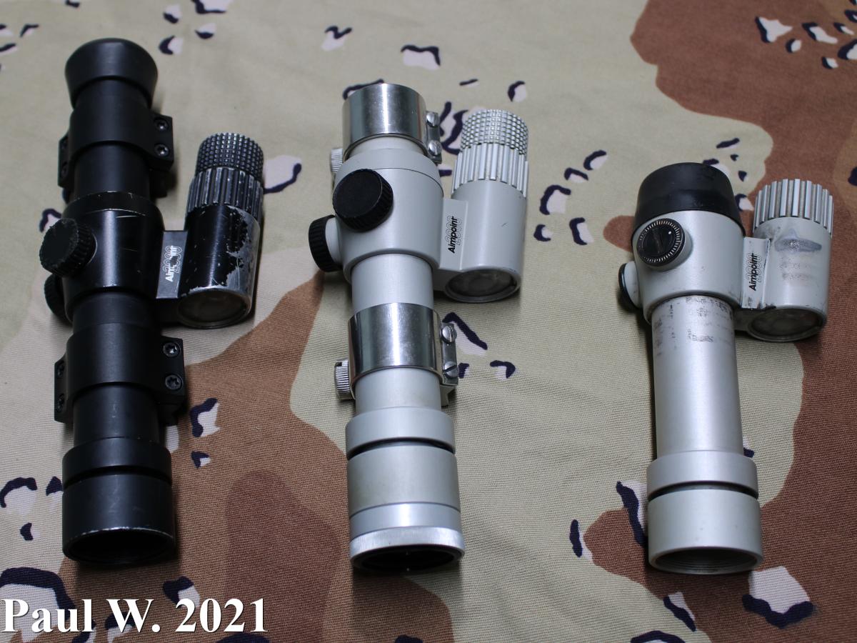 Aimpoint 2000 Size Comparisons